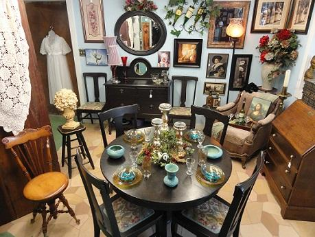 black washed oak claw footed round table chairs buffet/sideboard