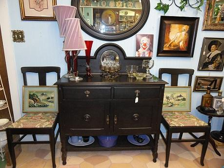 Black washed oak sideboard buffet
